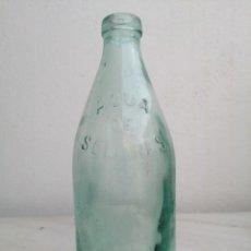 Botellas antiguas: BOTELLA DE AGUA SOLARES LETRAS EN RELIEVE ANTIGUA. Lote 290106858