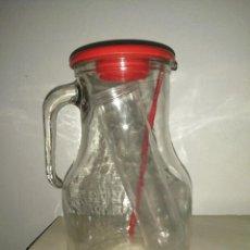 Botellas antiguas: JARRA DE CRISTAL GASEOSA LA CASERA PARA PONCHE VINO DE LOS AÑOS 70 TINTO DE VERANO. Lote 290112228