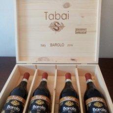 Botellas antiguas: 4 BOTTIGLIE BAROLO TABAI LIMITED EDITION. Lote 297258668