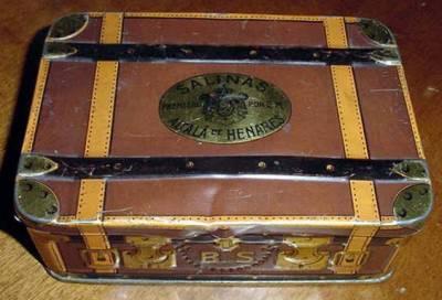 ANTIGUA CAJA DE HOJALATA LITOGRAFIADA (Coleccionismo - Cajas y Cajitas Metálicas)