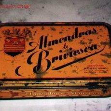 Cajas y cajitas metálicas: CAJA DE LATA DE ALMENDRAS DE BRIVIESCA. BURGOS.. Lote 27616967