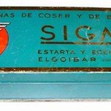 Cajas y cajitas metálicas: ANTIGUA CAJA DE HOJALATA LITOGRAFIADA CON PUBLICIDAD DE SIGMA - MIDE 21 X 7,5 X 4 CMS.. Lote 14103076