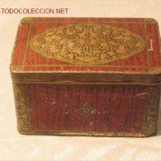 Cajas y cajitas metálicas: CAJA DE HOJALATA. Lote 3589302