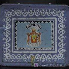 Cajas y cajitas metálicas: = = ANTIGUA CAJA DE INFUSIONES CONDAL = ESPINARDO MURCIA =. Lote 26475576