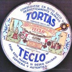 Cajas y cajitas metálicas: CAJA METALICA TORTAS TECLO,,DE G,ANDREIS BADALONA. Lote 3638669