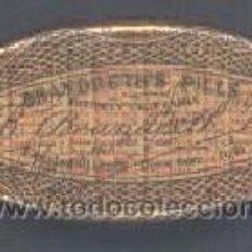 Cajas y cajitas metálicas: BRANDETH'S PILLS. ENTIRERY VEGETABLE. COMPOSICION DEL PRODUCTO EN CASTELLANO. SIN FECHA. Lote 24792947