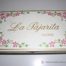 Cajas y cajitas metálicas: ANTIGUA CAJA CARAMELOS LA PAJARITA, PUERTA DEL SOL, MADRID. Lote 26346639