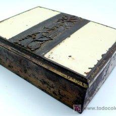 Cajas y cajitas metálicas - CAJA METÁLICA Y ESMALTADA ÉPOCA ART DECÓ - 1920 - 30 - 26443137