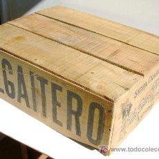 Cajas y cajitas metálicas: CAJA DE MADERA DE SIDRA EL GAITERO. Lote 27053930