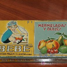 Cajas y cajitas metálicas: CAJA DE HOJALATA O CHAPA DE MERMELADAS Y DULCES BEBÉ, INDUSTRIAS MUERZA.. Lote 27388688