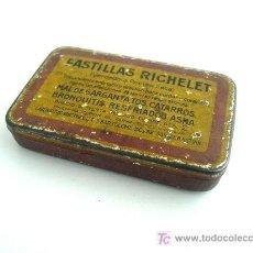 Cajas y cajitas metálicas: CAJA METALICA PASTILLAS RICHELET. Lote 27310683