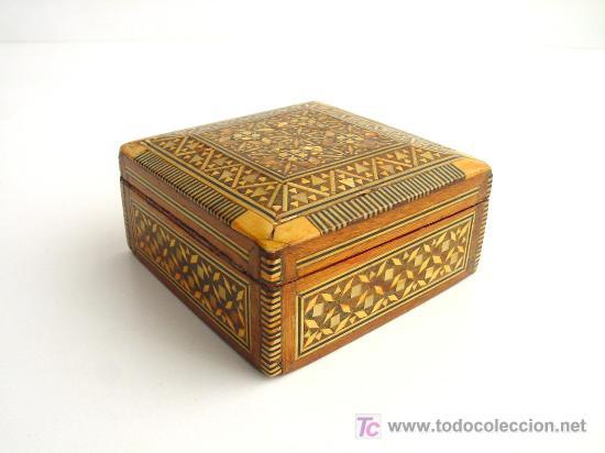 Caja antigua madera y nacar comprar cajas antiguas y - Caja madera antigua ...