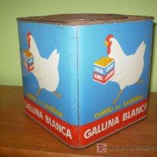 Cajas y cajitas metálicas: CALDO EN CUBITOS GALLINA BLANCA.. Lote 27007639