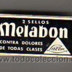 Cajas y cajitas metálicas: CAJA DE FARMACIA-DE CARTON- DOS SELLOS MELABON-CONTRA DOLORES-DE LÁCER SA. Lote 13444564