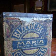 Cajas y cajitas metálicas: CAJA DE GALLETAS Y BIZCOCHOS MARIA METAL Y PAPEL MODERNISTA PPDE SXX 24X24. Lote 26475826