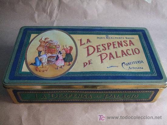 Antigua Caja De Lata De La Despensa De Palacio Vendido En Venta Directa 7655756