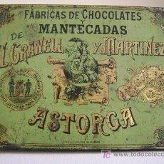 Cajas y cajitas metálicas: FABRICAS DE CHOCOLATES Y MANTECADOS DE H.GRANELL Y MARTINEZ -ASTORGA. Lote 21341203