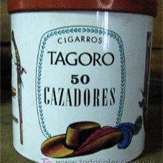 Cajas y cajitas metálicas: CAJA CIGARROS TAGORE, 50 CAZADORES.. Lote 25994557