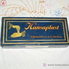 Cajas y cajitas metálicas: CAJA DE VENDITAS ADHESIVAS HANSAPLAST.ORIGEN ALEMANIA 1945.. Lote 26565370