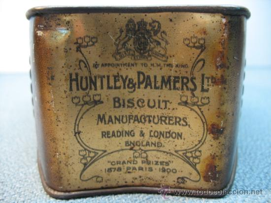 Cajas y cajitas metálicas: CAJA DE HUNTLEY PALMERS, BISCUIT, MANUFACTURES, ENGLAND - Foto 5 - 10795645