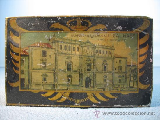 CAJITA METALICA ALMENDRAS DE ALCALA SALINAS (Coleccionismo - Cajas y Cajitas Metálicas)