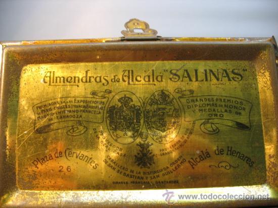 Cajas y cajitas metálicas: CAJITA METALICA ALMENDRAS DE ALCALA SALINAS - Foto 4 - 10900675
