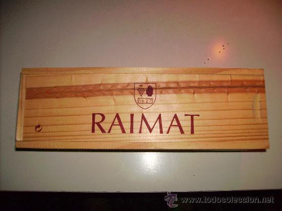 caja de madera vaca de vino raimat