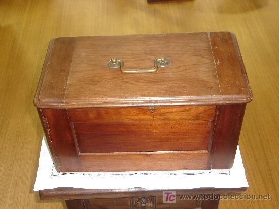 caja de madera para mquina de coser