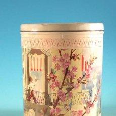 Cajas y cajitas metálicas: BONITA Y GRAN CAJA DE CHAPA - CAFETINO - 1950 / 55. Lote 9148057