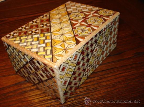 Caja secreta puzzle realizada en japon motivo comprar cajas antiguas y cajitas met licas en - Caja rompecabezas ...