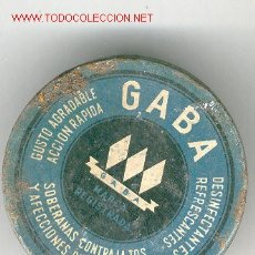 Cajas y cajitas metálicas: CAJITA METÁLICA PASTILLAS * GABA *. Lote 23542755