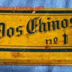 Cajas y cajitas metálicas: ANTIGUA CAJITA METALICA TAMPON DE TINTA. DOS CHINOS. Lote 10141279