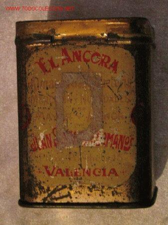 EL ANCORA - VALENCIA (Coleccionismo - Cajas y Cajitas Metálicas)