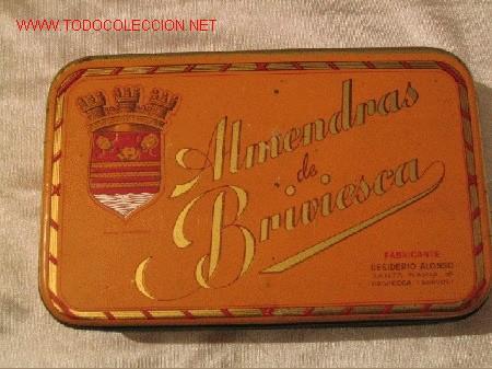 ALMENDRAS BRIVIESCA - DESIDERIO ALONSO (Coleccionismo - Cajas y Cajitas Metálicas)