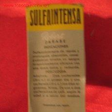 Cajas y cajitas metálicas: SULFAINTENSA - LABORATORIOS ROBERT - BARCELONA. Lote 3181601