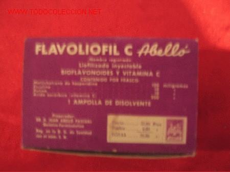 FLAVOLIOFIL - LABORATORIOS ABELLO - MADRID (Coleccionismo - Cajas y Cajitas Metálicas)