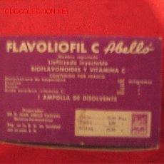 Cajas y cajitas metálicas: FLAVOLIOFIL - LABORATORIOS ABELLO - MADRID. Lote 3186423