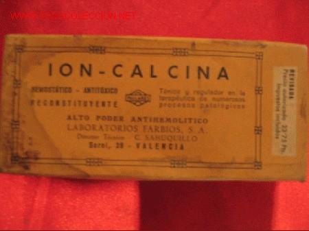 Cajas y cajitas metálicas: ION -CALCINA - LABORATORIOS FARBIOS - VALENCIA - Foto 2 - 3181596