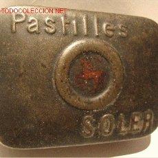 Cajas y cajitas metálicas: CAJITA METÁLICA PASTILLAS SOLER ( ANTIGÜEDADES FARMACIA). Lote 27519970