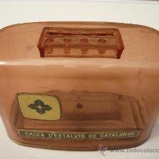 Cajas y cajitas metálicas: CAIXA CATALUNYA. ESTALVI. HUCHA. ALCANCIA. CAJA CATALUÑA. CAIXA D'ESTALVIS DE CATALUNYA. BANCA.. Lote 44847469