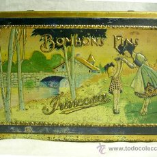 Cajas y cajitas metálicas: CHOCOLATE JUNCOSA, BOMBONS FINS. Lote 26713855