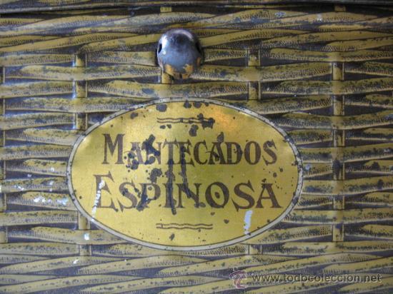 Cajas y cajitas metálicas: CAJITA METALICA FORMA DE CESTA MANTECADOS ESPINOSA, RECUERDO DE EL ESCORIAL - Foto 2 - 11616430