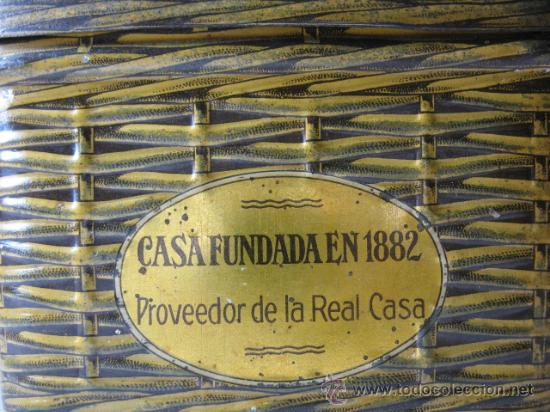 Cajas y cajitas metálicas: CAJITA METALICA FORMA DE CESTA MANTECADOS ESPINOSA, RECUERDO DE EL ESCORIAL - Foto 3 - 11616430