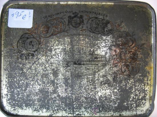 Cajas y cajitas metálicas: CAJITA METALICA FORMA DE CESTA MANTECADOS ESPINOSA, RECUERDO DE EL ESCORIAL - Foto 5 - 11616430