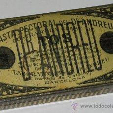 Cajas y cajitas metálicas: ANTIGUA CAJA METALICA PASTA PECTORAL ANDREU. Lote 10260654