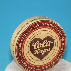 Cajas y cajitas metálicas: CAJA DE CHAPA - COLA HERZEN - ALEMANIA 1930/40. Lote 10413300