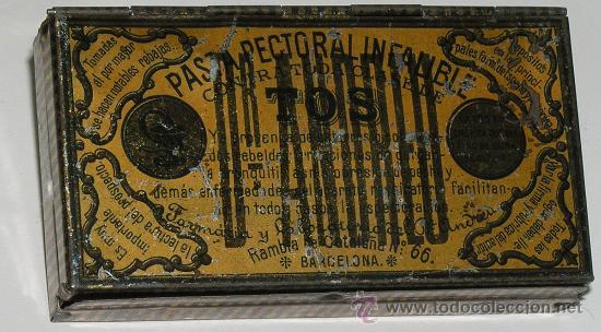 ANTIGUA CAJA METALICA PASTA PECTORAL INFALIBLE DR ANDREU (Coleccionismo - Cajas y Cajitas Metálicas)