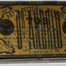 Cajas y cajitas metálicas: ANTIGUA CAJA METALICA PASTA PECTORAL INFALIBLE DR ANDREU. Lote 10423656