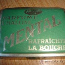 Cajas y cajitas metálicas: CAJITA DE METAL. PASTILLES MENTAL. 5X3.8. ALTURA: 1.5.. Lote 26605545