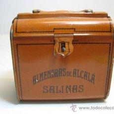 Cajas y cajitas metálicas: CAJITA METALICA MALETIN, ALMENDRAS DE ALCALA SALINAS, G.DE-ANDREIS BADALONA. Lote 17570711